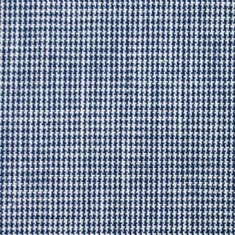 コットン×チェック(ネイビーブルー)×千鳥格子 サムネイル1