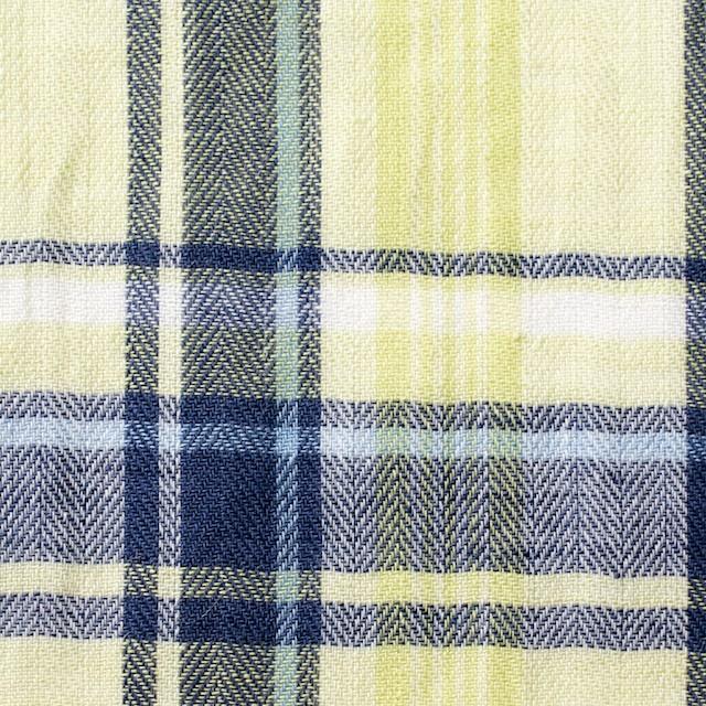 コットン&リネン混×チェック(レモンイエロー)×ヘリンボーン_全3色 イメージ1