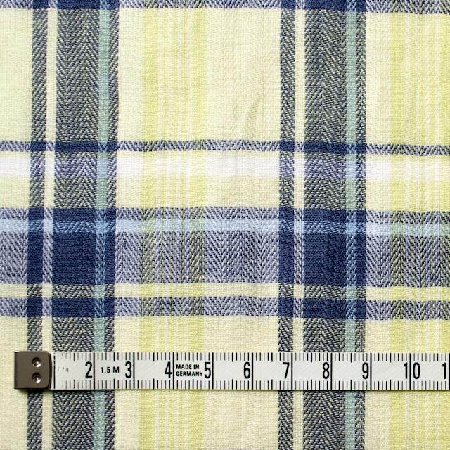 コットン&リネン混×チェック(レモンイエロー)×ヘリンボーン_全3色 イメージ4