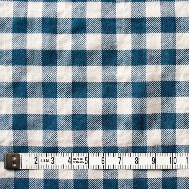 コットン&ポリウレタン×チェック(マリンブルー)×ビエラ・シャーリング イメージ4