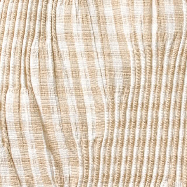 コットン&ナイロン混×チェック(ベージュ)×タテタック_全2色 イメージ1