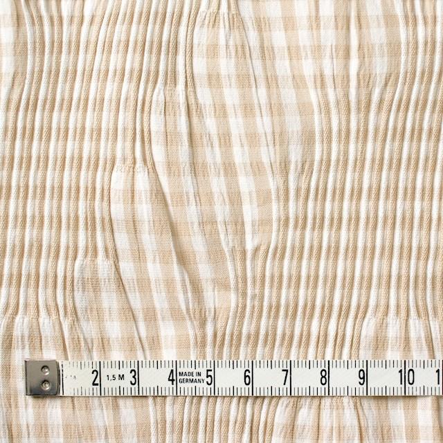 コットン&ナイロン混×チェック(ベージュ)×タテタック_全2色 イメージ4