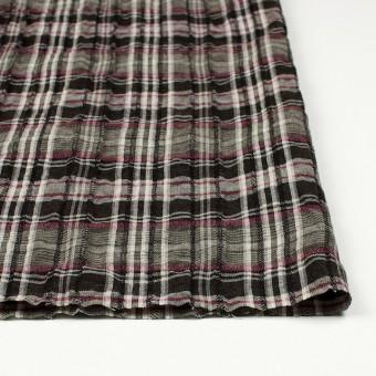 コットン&リネン×チェック(ピンク&ブラウン)×ガーゼ・タテタック_全2色 サムネイル3