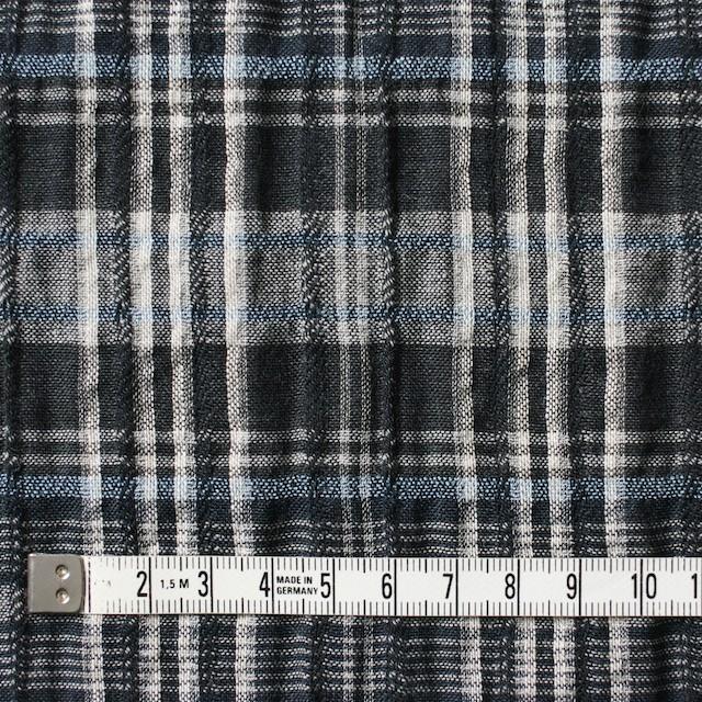 コットン&リネン×チェック(ブルー&ブラック)×ガーゼ・タテタック_全2色 イメージ4