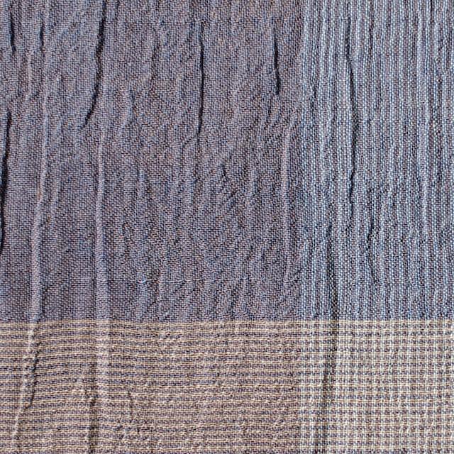コットン×チェック(ブルーミックス)×ヨウリュウ_全2色 イメージ1