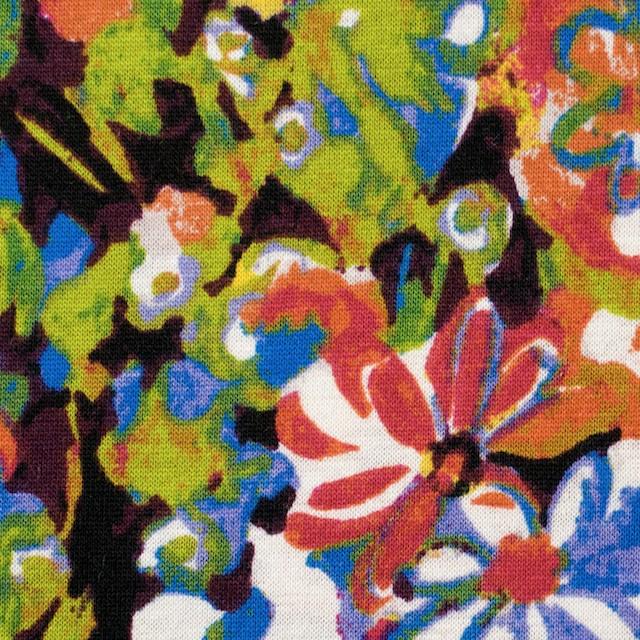 コットン×フラワー(ショッキングピンク&グリーン)×天竺ニット_全3色 イメージ1