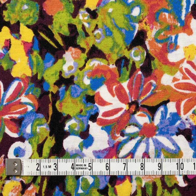 コットン×フラワー(ショッキングピンク&グリーン)×天竺ニット_全3色 イメージ4