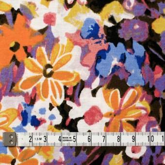コットン×フラワー(オレンジ&パープル)×天竺ニット_全3色 サムネイル4