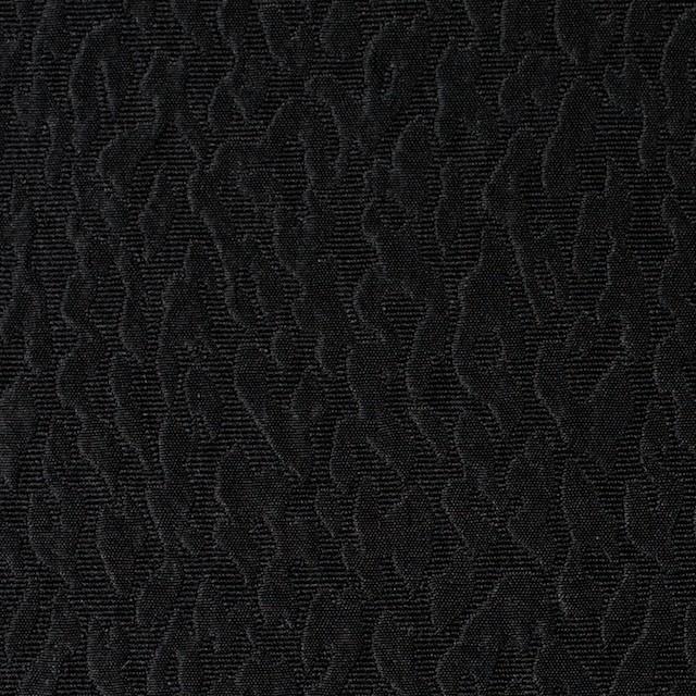 シルク×無地(ブラック)×ふくれ織ジャガード イメージ1