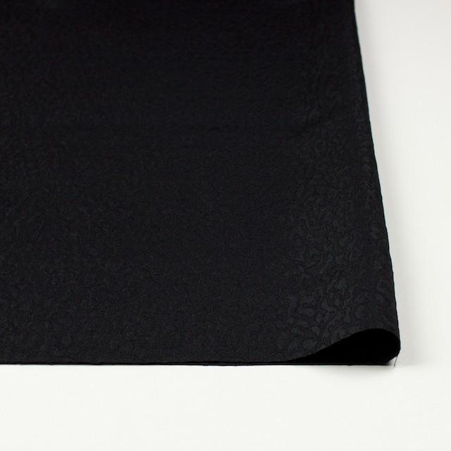 シルク×無地(ブラック)×ふくれ織ジャガード イメージ3