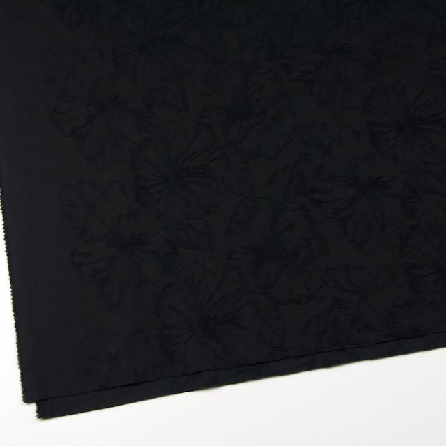 コットン×フラワー(ブラック)×ローン刺繍 イメージ2