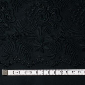 コットン×フラワー(ブラック)×ボイル刺繍 サムネイル4