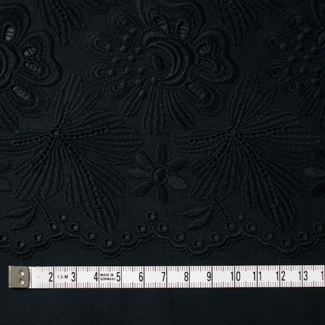 コットン×フラワー(ブラック)×ボイル刺繍 イメージ4