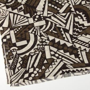 コットン×幾何学模様(ブラウンミックス)×ガーゼ_全3色 サムネイル2