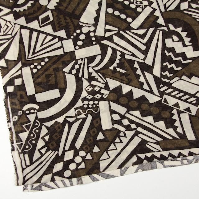 コットン×幾何学模様(ブラウンミックス)×ガーゼ_全3色 イメージ2