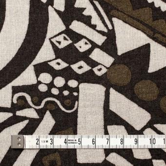 コットン×幾何学模様(ブラウンミックス)×ガーゼ_全3色 サムネイル4