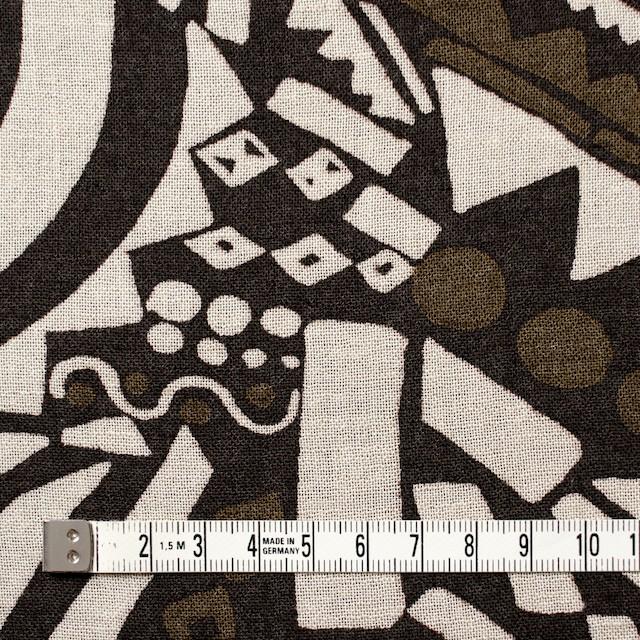 コットン×幾何学模様(ブラウンミックス)×ガーゼ_全3色 イメージ4