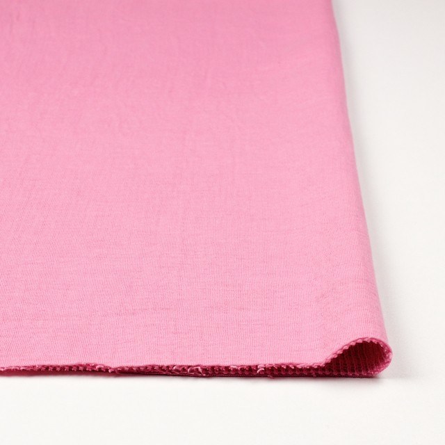 コットン×無地(ピンク)×Wニット_全6色(シリーズ1) イメージ3