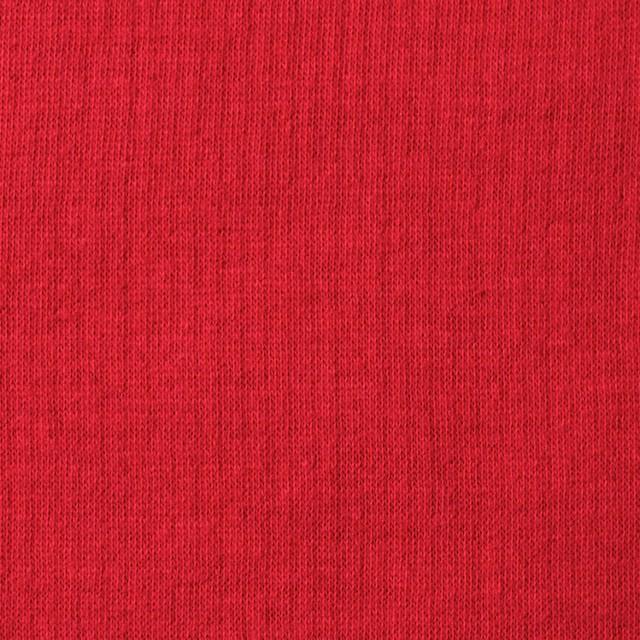 コットン×無地(レッド)×Wニット_全6色(シリーズ1) イメージ1