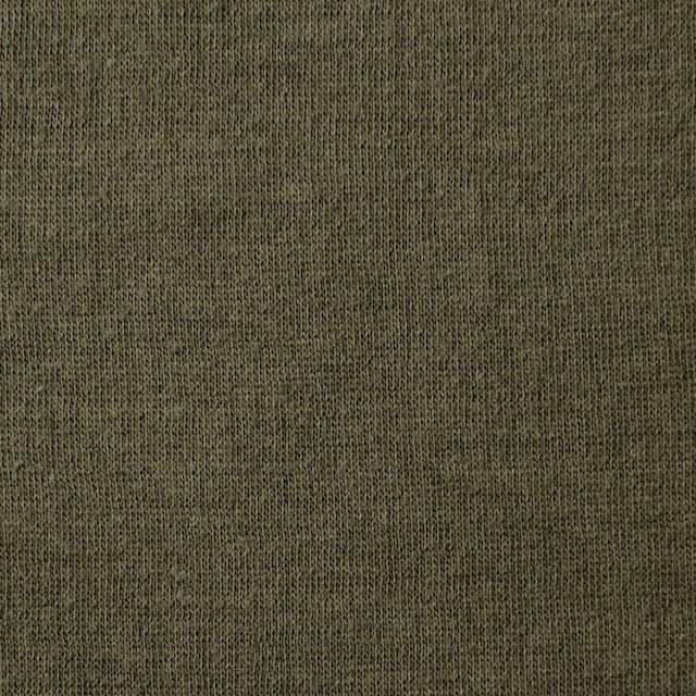 コットン×無地(カーキグリーン)×Wニット_全5色(シリーズ3) イメージ1