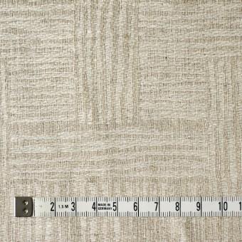 リネン×幾何学模様(キナリ&グレイッシュベージュ)×ジャガード_リトアニア製 サムネイル4