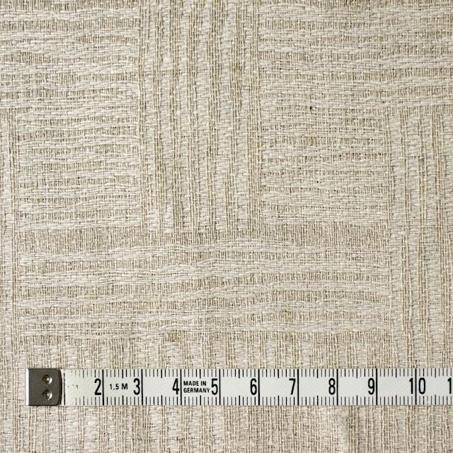 リネン×幾何学模様(キナリ&グレイッシュベージュ)×ジャガード_リトアニア製 イメージ4