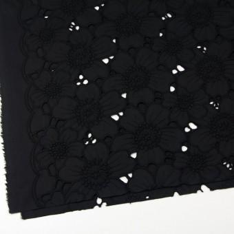 コットン×フラワー(ブラック)×ピケ刺繍_全2色 サムネイル2