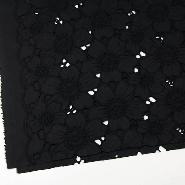 コットン×フラワー(ブラック)×ピケ刺繍_全2色 イメージ2