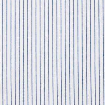 コットン×ストライプ(ブルー)×ブロード サムネイル1