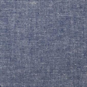 コットン&リネン×無地(ブルー)×シャンブレー サムネイル1
