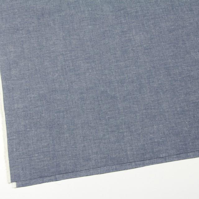 コットン&リネン×無地(ブルー)×シャンブレー イメージ2