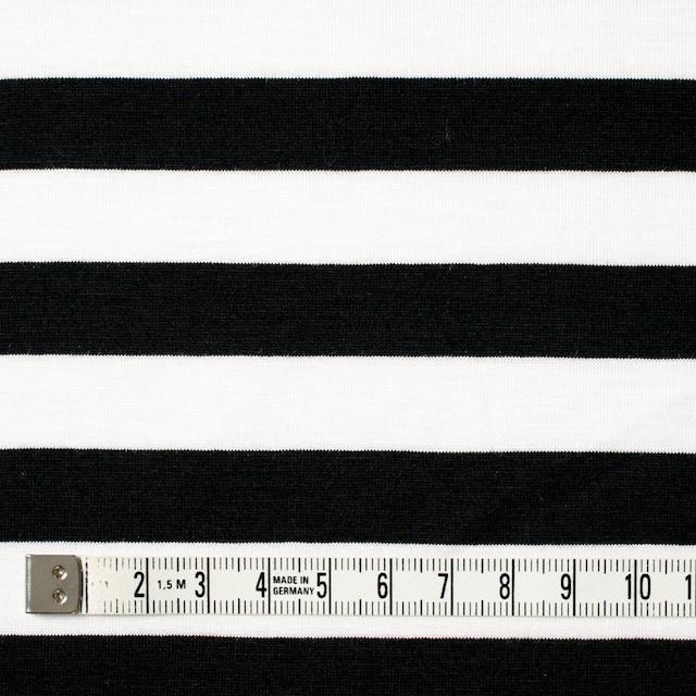 コットン×ボーダー(ホワイト&ブラック)×天竺ニット_全3色 イメージ4