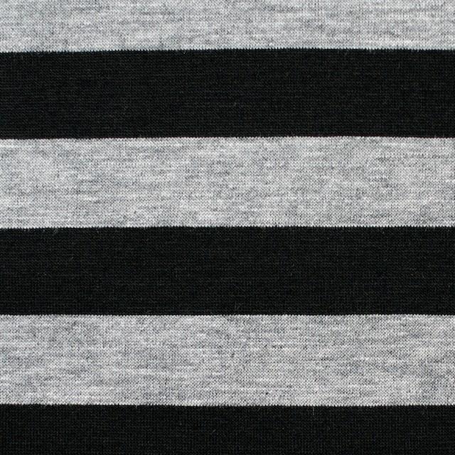 コットン×ボーダー(グレー&ブラック)×天竺ニット_全3色 イメージ1