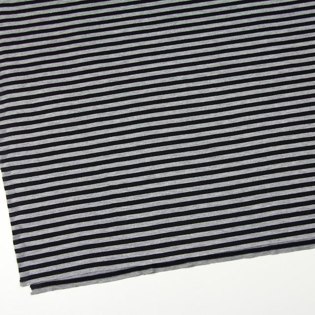 コットン×ボーダー(グレー&ブラック)×天竺ニット_全3色 イメージ2
