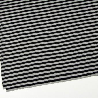 コットン×ボーダー(グレー&ブラック)×天竺ニット サムネイル2