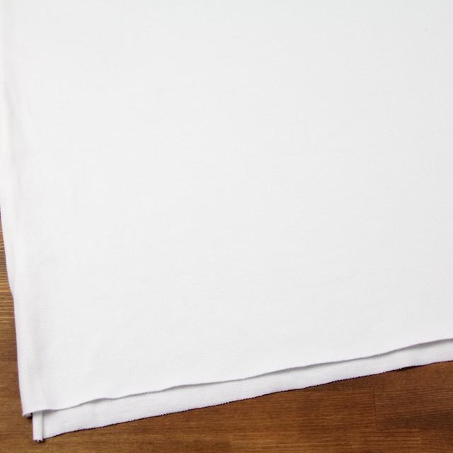 コットン×無地(ホワイト)×鹿の子ニット イメージ2