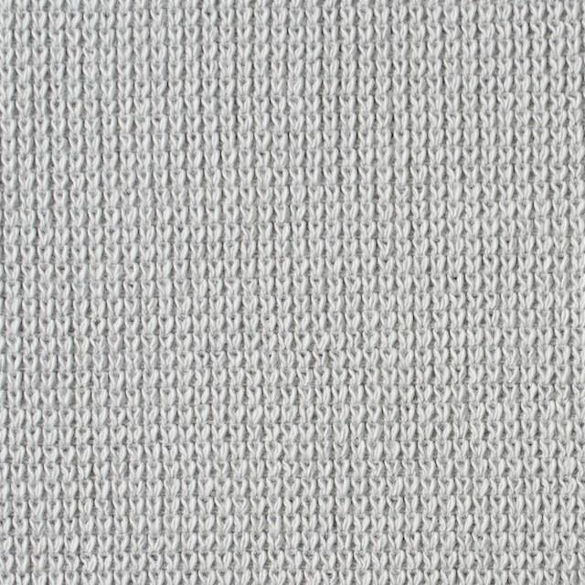 コットン×無地(ライトグレー)×Wニット イメージ1