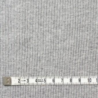 コットン×無地(グレー)×丸編みリブニット_全3色 サムネイル4