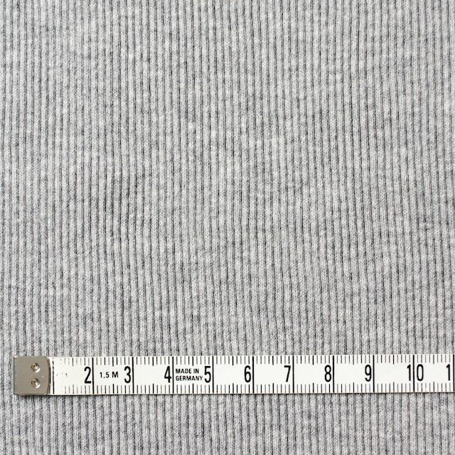 コットン×無地(グレー)×丸編みリブニット_全3色 イメージ4