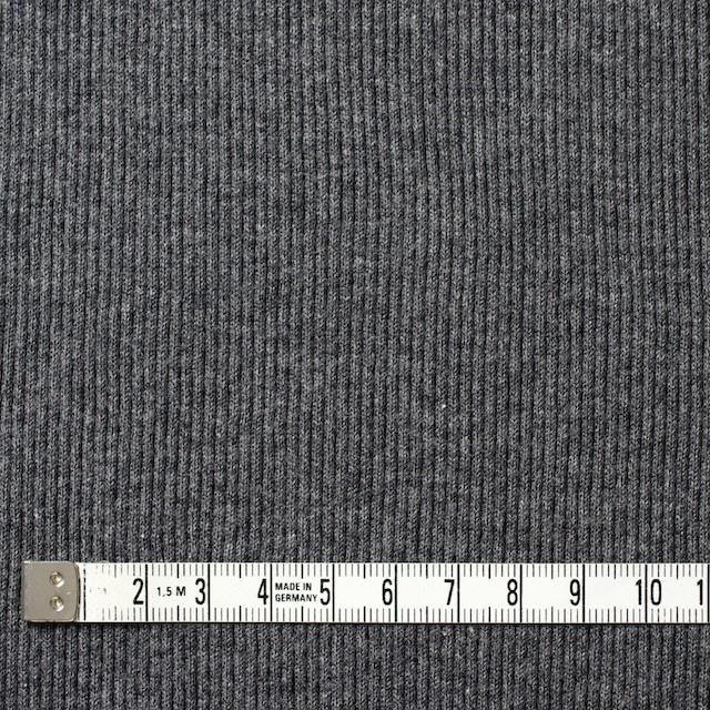 コットン×無地(チャコールグレー)×丸編みリブニット_全3色 イメージ4