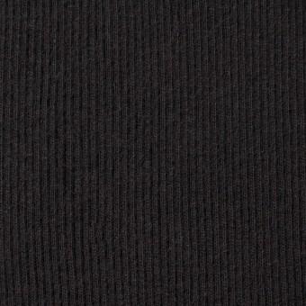 コットン×無地(ブラック)×丸編みリブニット_全3色 サムネイル1
