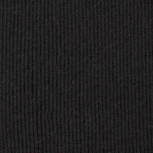 コットン×無地(ブラック)×丸編みリブニット_全3色 イメージ1