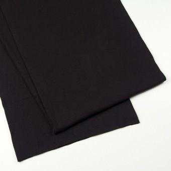 コットン×無地(ブラック)×丸編みリブニット_全3色 サムネイル2