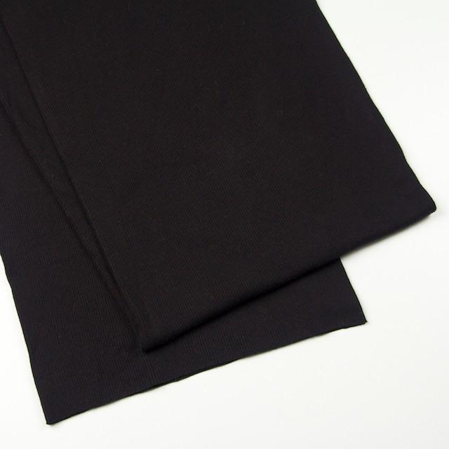 コットン×無地(ブラック)×丸編みリブニット_全3色 イメージ2