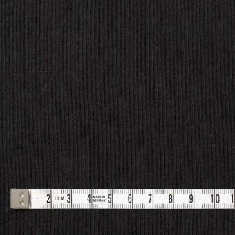 コットン×無地(ブラック)×丸編みリブニット_全3色 サムネイル4
