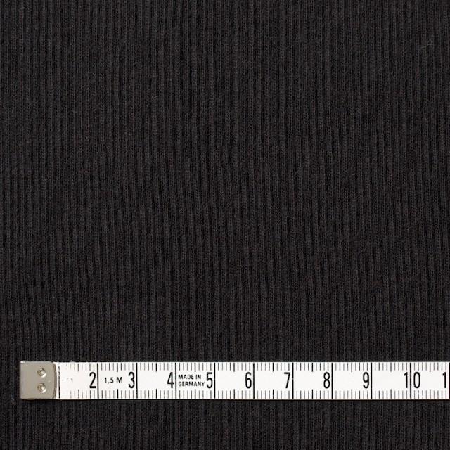 コットン×無地(ブラック)×丸編みリブニット_全3色 イメージ4