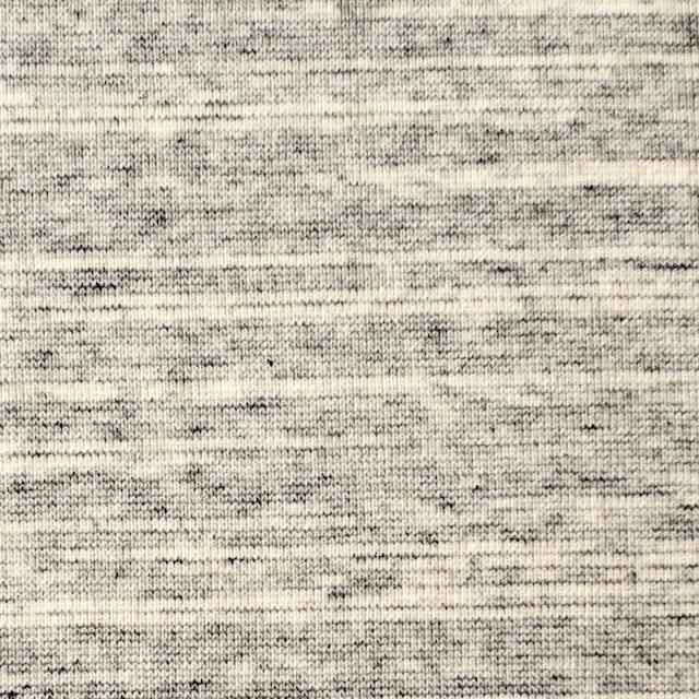 コットン×ボーダー(グレー)×フライスニット_全2色 イメージ1