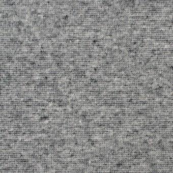 コットン×無地(杢グレー)×フライスニット