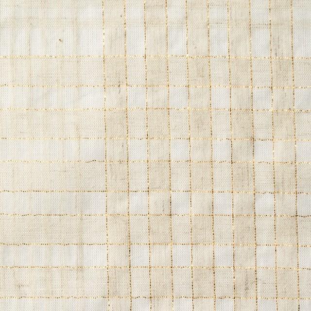 コットン&リネン混×マドラスチェック(キナリ)×ローン_全3色 イメージ1