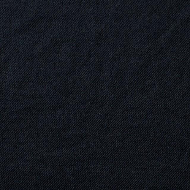 コットン&リネン×無地(ブラック)×薄サージワッシャー_全4色 イメージ1